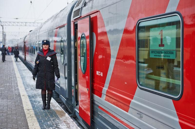 """Фирменный поезд """"Ярославль - Москва"""" Ярославль – Москва"""